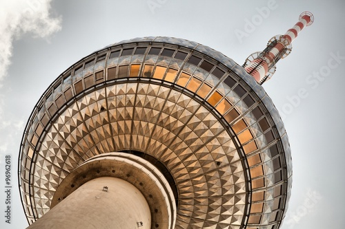 Cadres-photo bureau Berlin Famous TV Tower located on the Alexanderplatz in Berlin, Germany