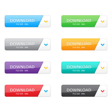 Set Of Download Buttons