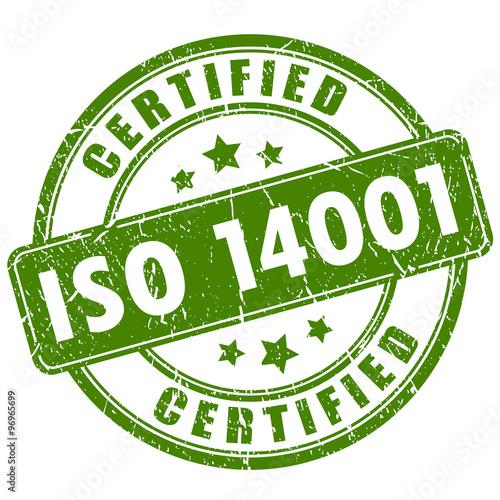 Fototapeta Iso 14001 certified stamp obraz na płótnie