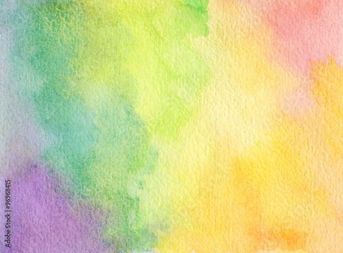 obraz lub plakat Abstract acrylic and watercolor brush strokes painted background