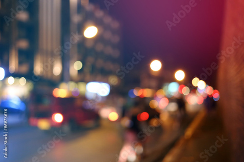 Fotografie, Obraz  blur traffic with bokeh