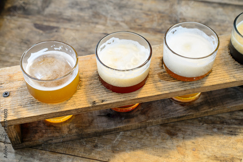Craft beer in the glass Canvas Print