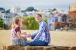 Romantic loving couple having a date in San Francisco