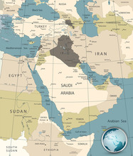 Middle East And West Asia Map ...