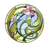 Stained-glass ceiling light