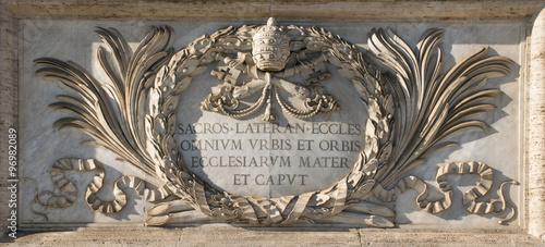 Vászonkép San Giovanni cathedral's plate