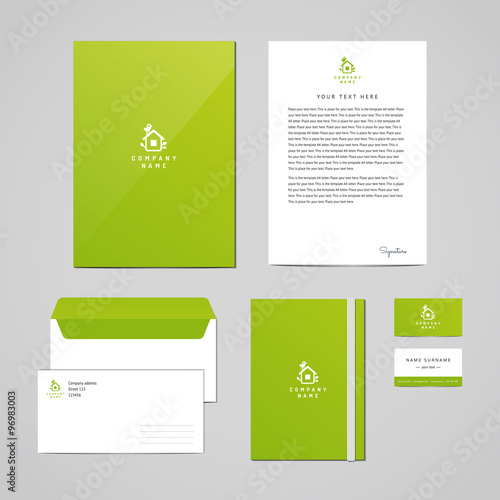 Corporate identity eco design template documentation for business corporate identity eco design template documentation for business folder letterhead envelope flashek Image collections
