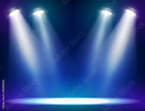 Stage lights background