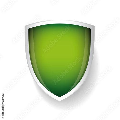 Fotografie, Obraz Vector shield green