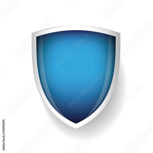 Obraz na plátně Vector shield blue