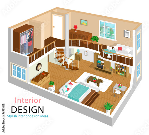 A Vector Illustration Of A Modern Detailed Isometric