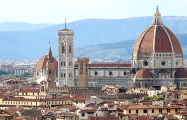 Fototapeta Toskania FLORENCE in Italy with the great dome of the Cathedral