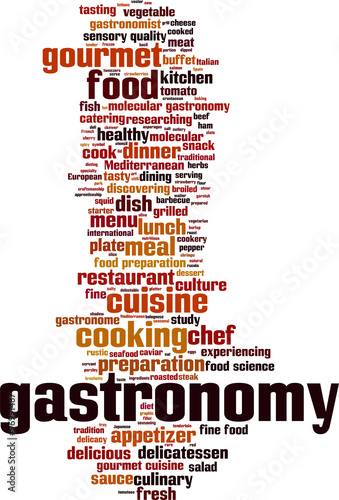 Gastronomy word cloud concept. Vector illustration #96991487