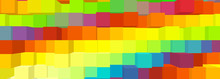Sfondo Cubico Multicolore - Arcobaleno
