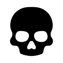 Death Skull Flat Icon For Apps And Websites