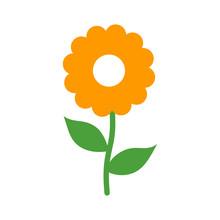 Chamomile Daisy Flower Flat Ic...