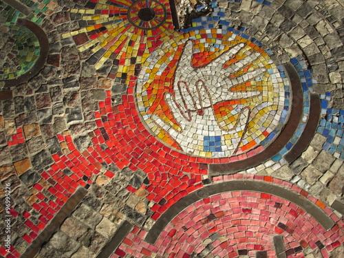 mosaico - mani e amicizia © Alfons Ven
