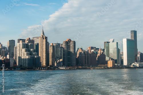 Panorama of downtown Manhattan in New York