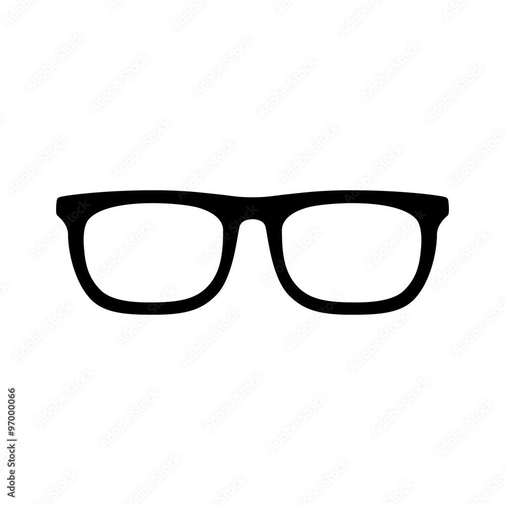 Fototapeta eyeglasses flat icon for app and website