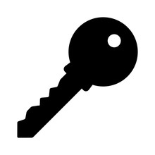Access Key Flat Icon For Apps And Website