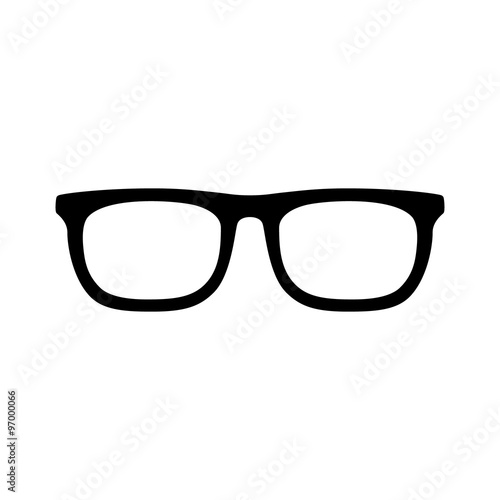 eyeglasses flat icon for app and website Canvas Print
