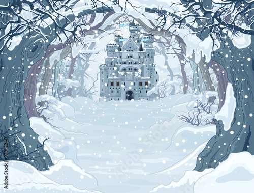 Magic Winter Castle #97002240