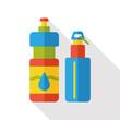 water bottle flat icon