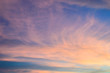 sunrise sky with clouds
