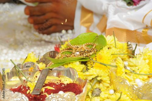 Foto op Canvas India Hands close up