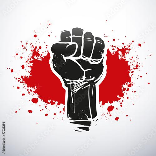 Cuadros en Lienzo Raised black fist