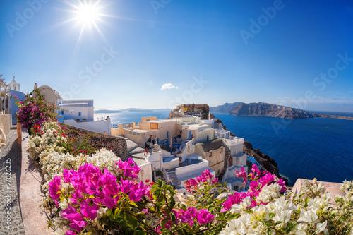 Obraz Santorini island in Greece - fototapety do salonu