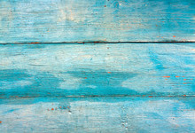 Blue Weathered Wooden Wall Tex...