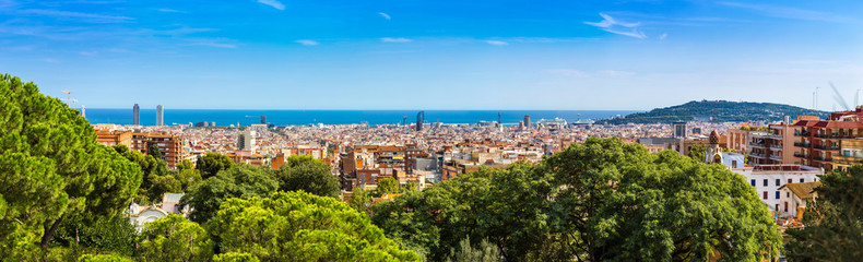 Panel Szklany Panoramic view of Barcelona