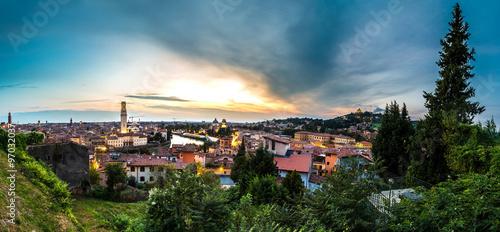 Keuken foto achterwand Noord Europa Verona at sunset in Italy