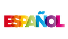 The Word Spanish. Vector Banne...
