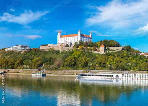 Medieval castle  in Bratislava, Slovakia Canvas Print
