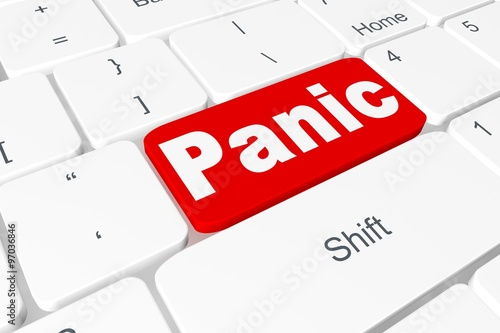"Fotografía  Button ""Panic"" on keyboard"