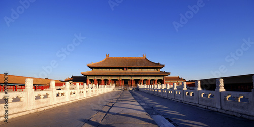 Poster Pekin Forbidden City Chinese Culture Ancient Concept
