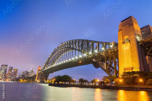 Wonderful night skyline of Sydney, Australia