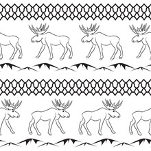 Deer Vector Seamless Pattern. ...