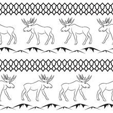 Deer Vector Seamless Pattern. Ethnic Animal Theme.