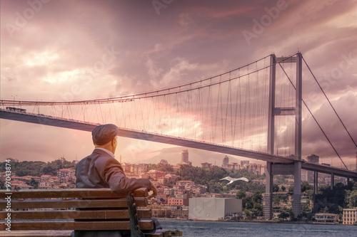 Fotografie, Obraz Bosphorus Bridge,İstanbul,Turkey