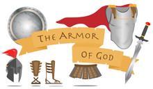 Armor Of God Christianity Warrior Jesus Christ Spirit Sign Vector Illustration