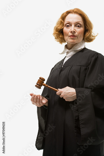 Fotografering  Portrait of a female judge