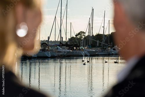 Fotografie, Obraz  Couple at harbour