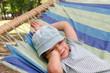 Child resting in hammock