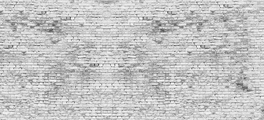 Obraz na Szkle Skandynawski Long white brick wall