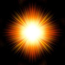Esplosione Di Luce Su Sfondo N...