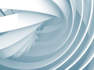 FototapetaAbstract background with light blue 3d spiral structures