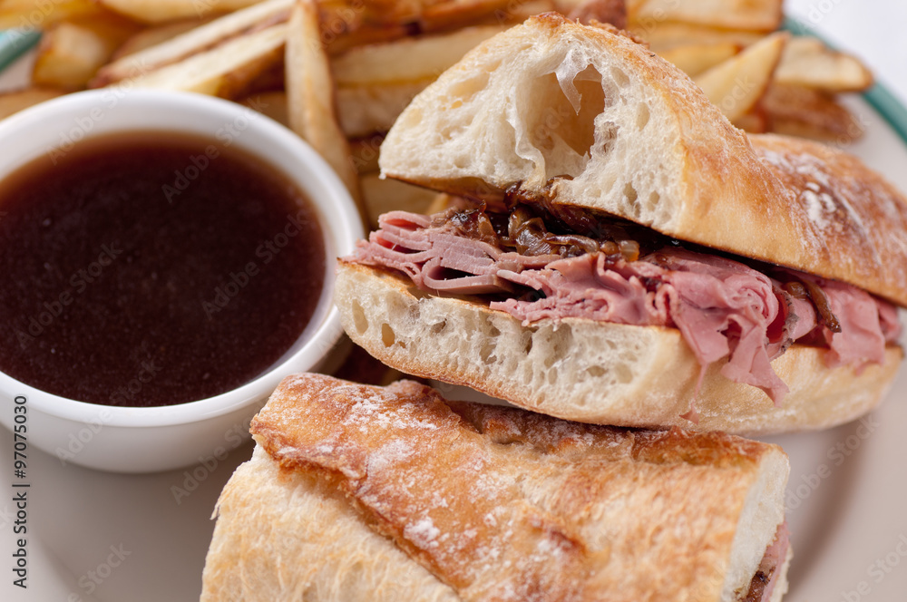 Fototapety, obrazy: beef dip or french dip